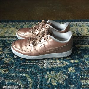 Rose Gold Nike Air Force 1